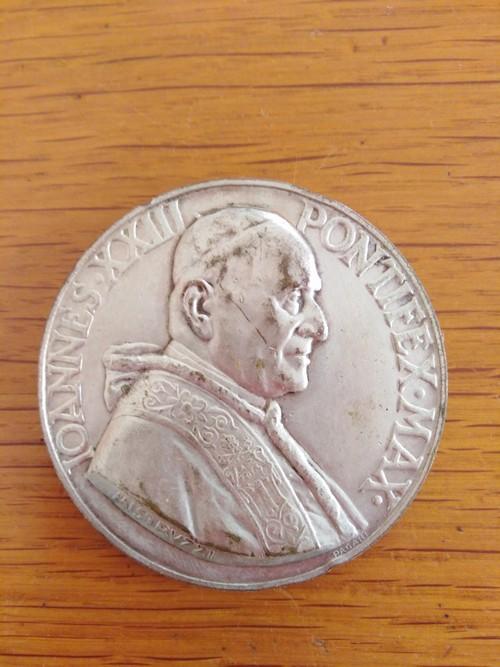 medaglia papa giovanni XXIII no argento